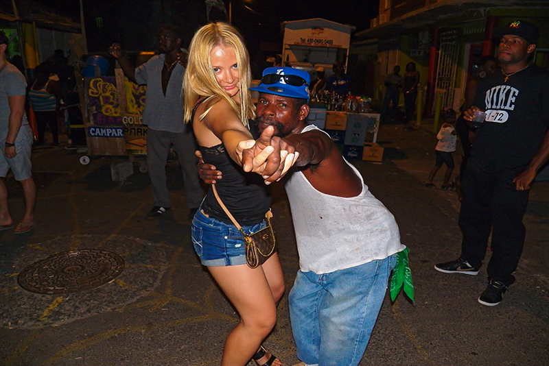 St. Lucia tours - Gros Islet Street Party locals