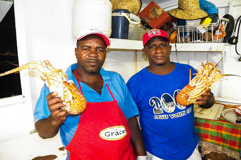 St. Lucia tours - Gros Islet Street Party Island fresh lobster