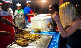 St. Lucia tours - Gros Islet Street Party Island style best seafood