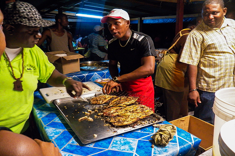 St. Lucia tours - Gros Islet Street Party Island style fresh seafood
