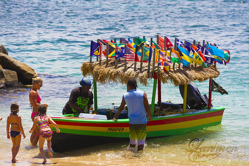St. Lucia Tours - Pigeon Island Family Fresh fruit boat