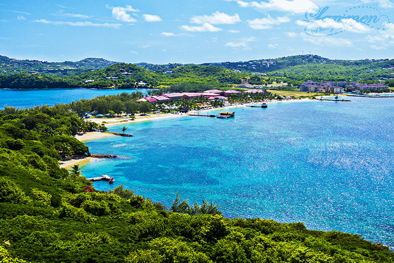 St. Lucia Tours - Pigeon Island Fort Rodney View Sandals Peninsula