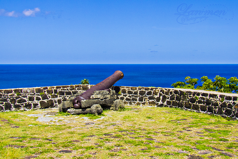 St. Lucia Tours - Pigeon Island Fort Rodney View Canon