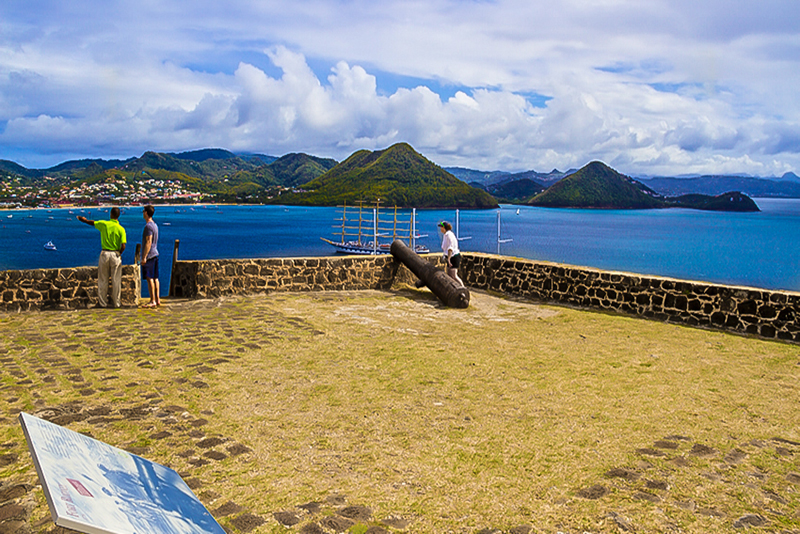 St. Lucia Tours - Pigeon Island Fort Rodney Bay View