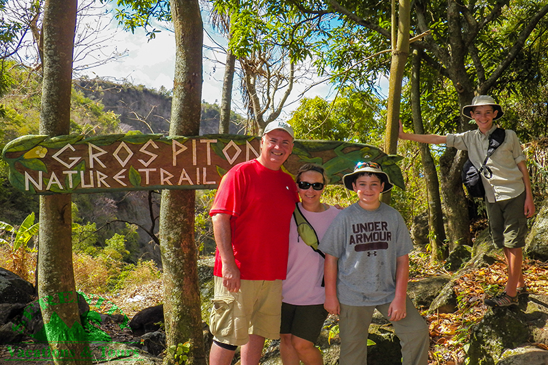 St. Lucia Tours - Gros Piton Hike Family Starting point