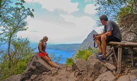 St. Lucia Tours - Gros Piton hike Half way break