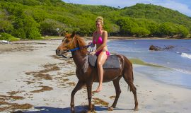 St. Lucia tours - Horse Back riding beach