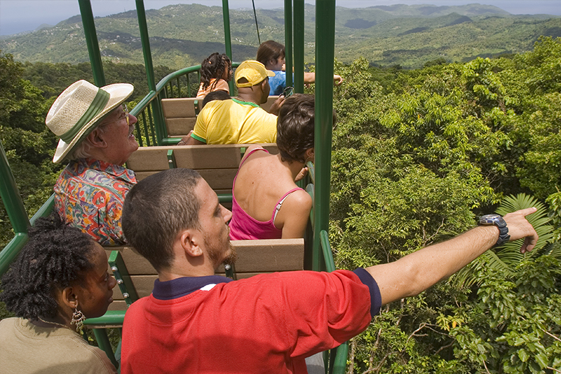St. Lucia Tours - Aerial Tram Ride