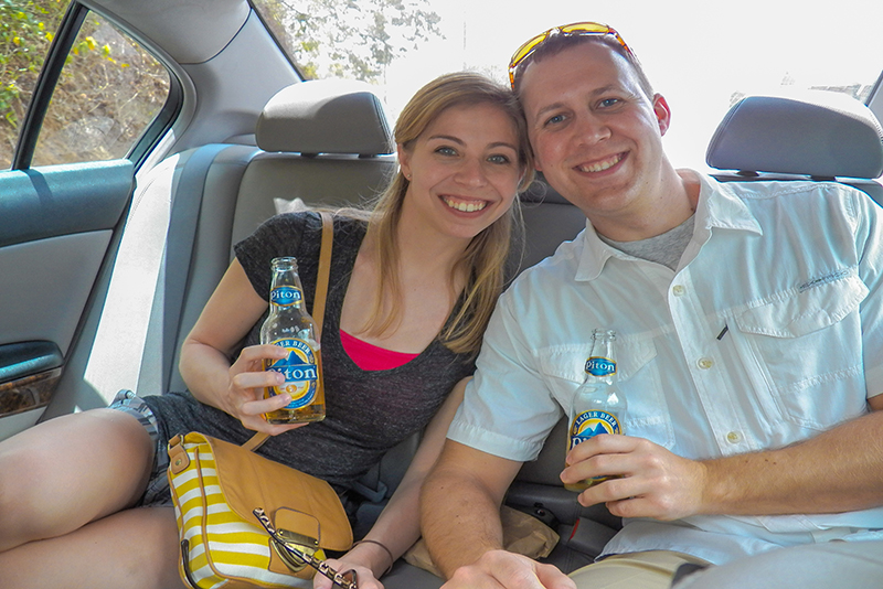 St. Lucia tours - Private Couples tour Piton beer
