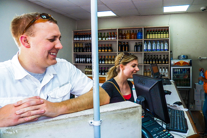 St. Lucia Tours- Rum distillery shop