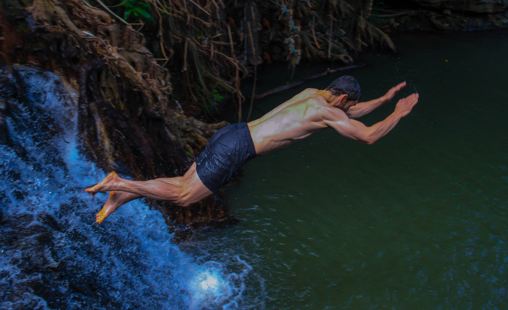 St. Lucia Tours - Waterfall Cliff jumping