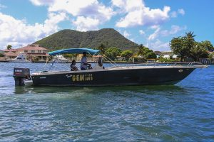 St. Lucia Speed Boat Charters - Twin Gemini1