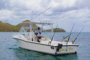 St. Lucia fishing boat charters - salty - grady white 3